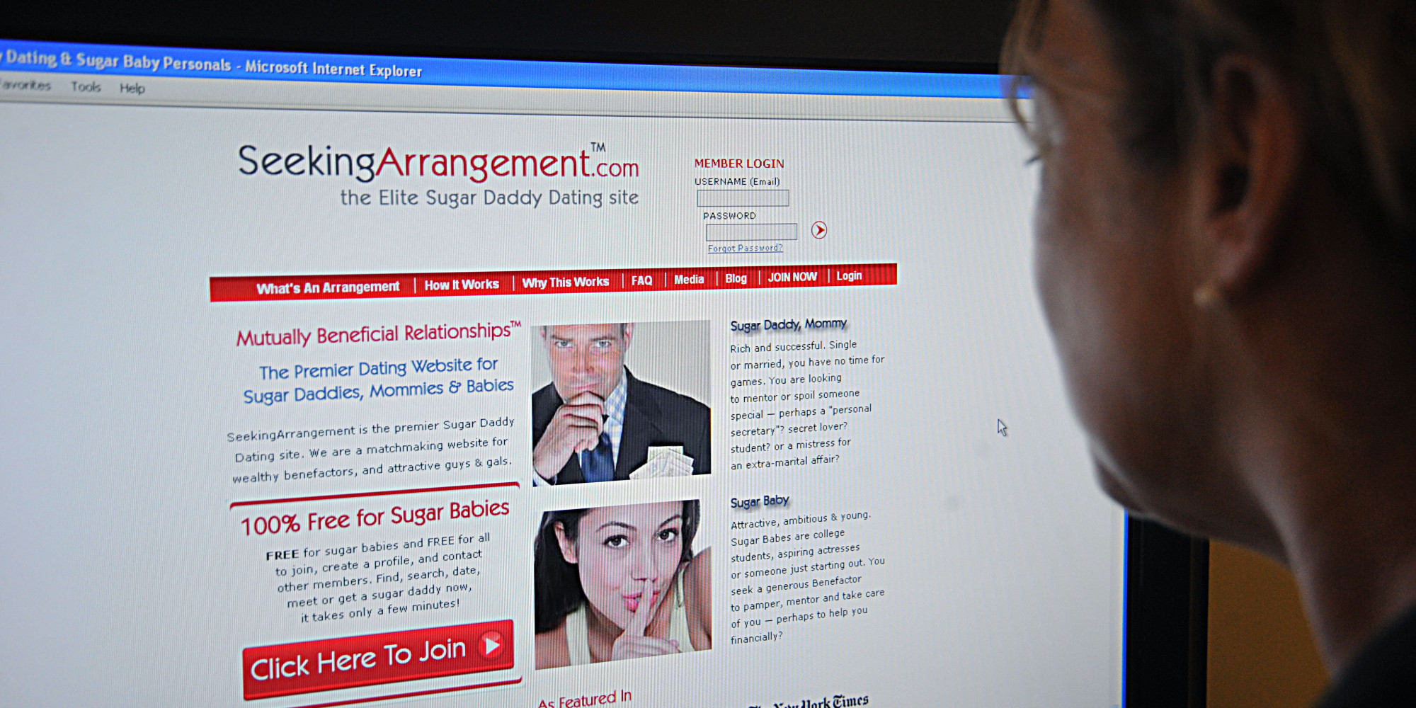 seeking arrangement sugar daddy My experience as an undercover sugar baby angela told me i'd need to update my image if i was going to score a sugar daddy seeking arrangement's ceo.