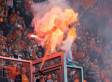 Fan Briefly Catches On Fire At Polish Soccer Match