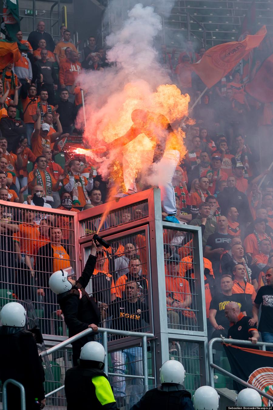 man fire soccer