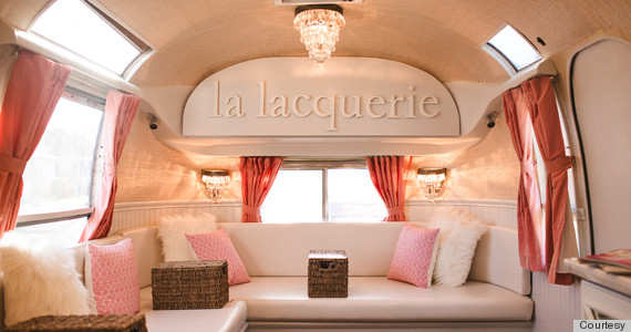 The Inside Of La Lacquerie S Mobile Nail Salon