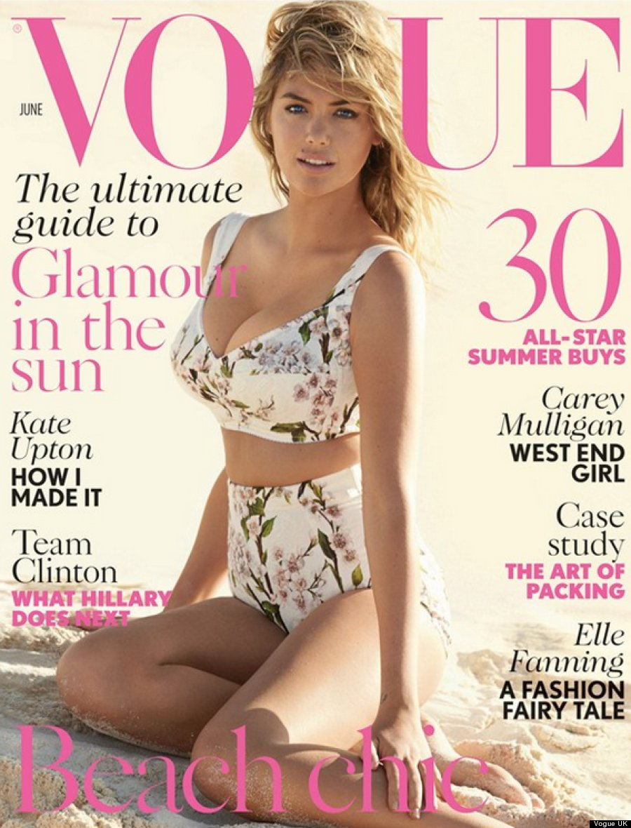 Kate Upton Gets Another Vogue Cover, Channels Her Inner '50s Bombshell