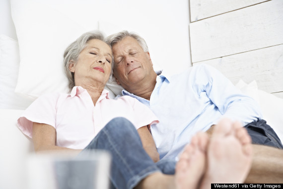 older person taking nap
