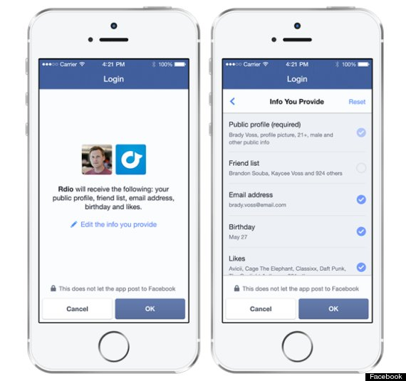 facebook anonymous log in