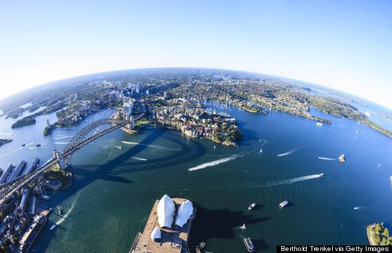 sydney port aerial