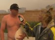 Shirtless Guy Asks Reporter On Date During Live Interview. Oh, And Also During A Fire.