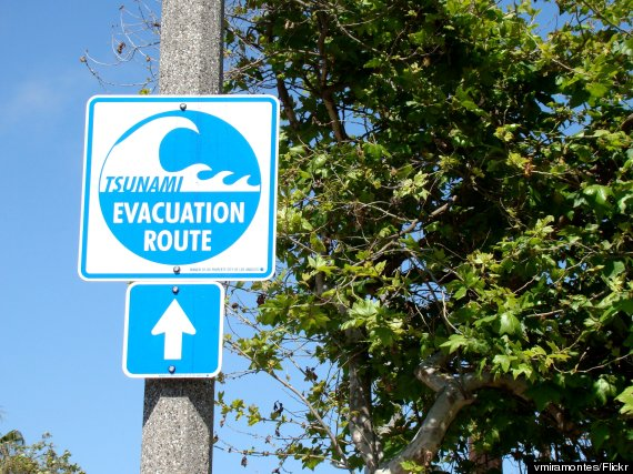 tsunami evacuation route california