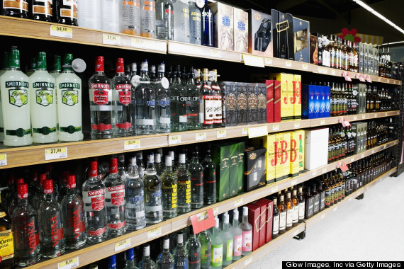 spirits in grocery store