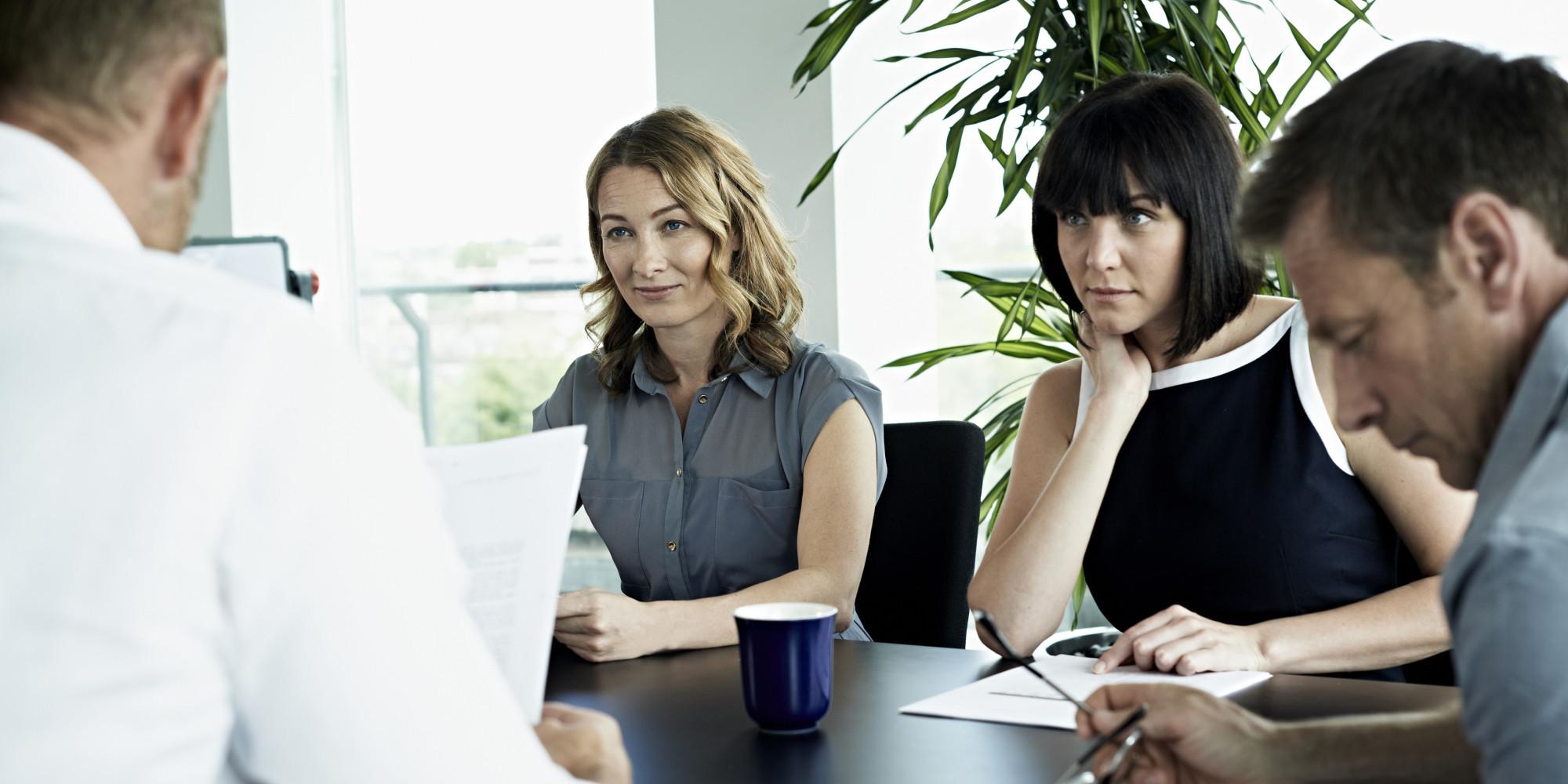 women at new job