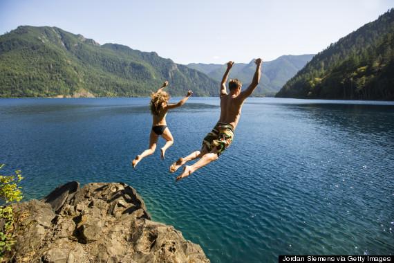 jumping water