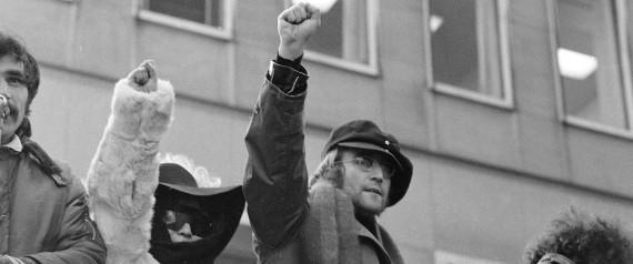 JOHN LENNON PROTEST