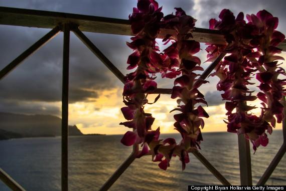 wearing lei hawaii