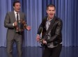 Andrew Garfield Sings 'Spider-Man' Theme On The 'Tonight Show' As Jimmy Fallon Plays Tambourine
