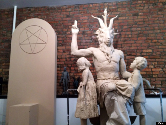 baphomet satanic statue