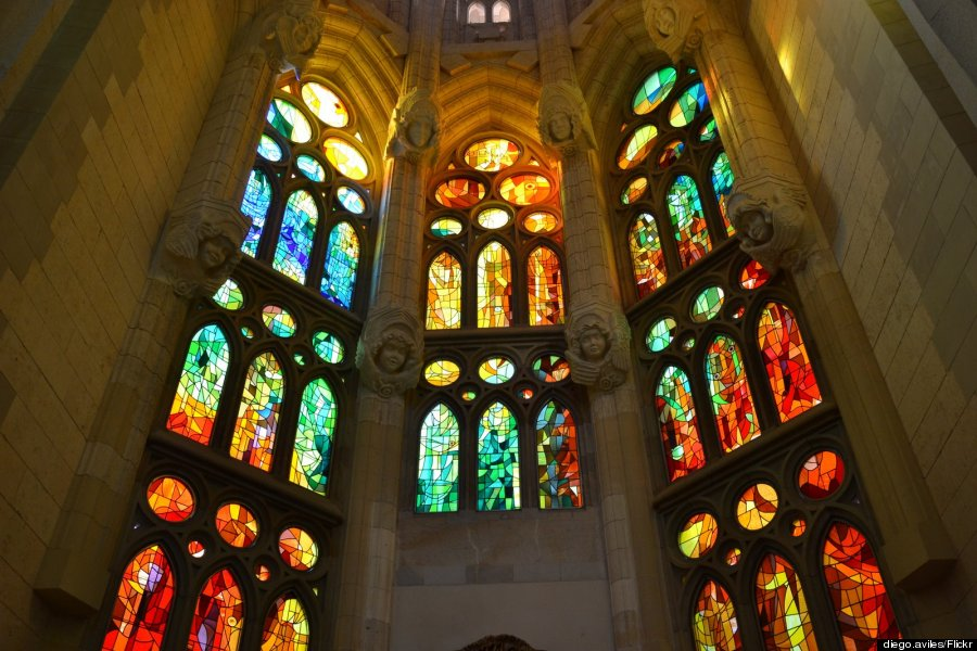 stained glass sagrada familia