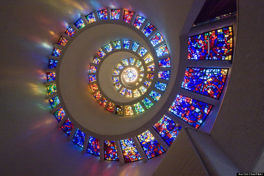 glory window spiral stained glass window