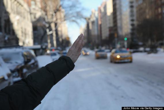 hailing cab new york