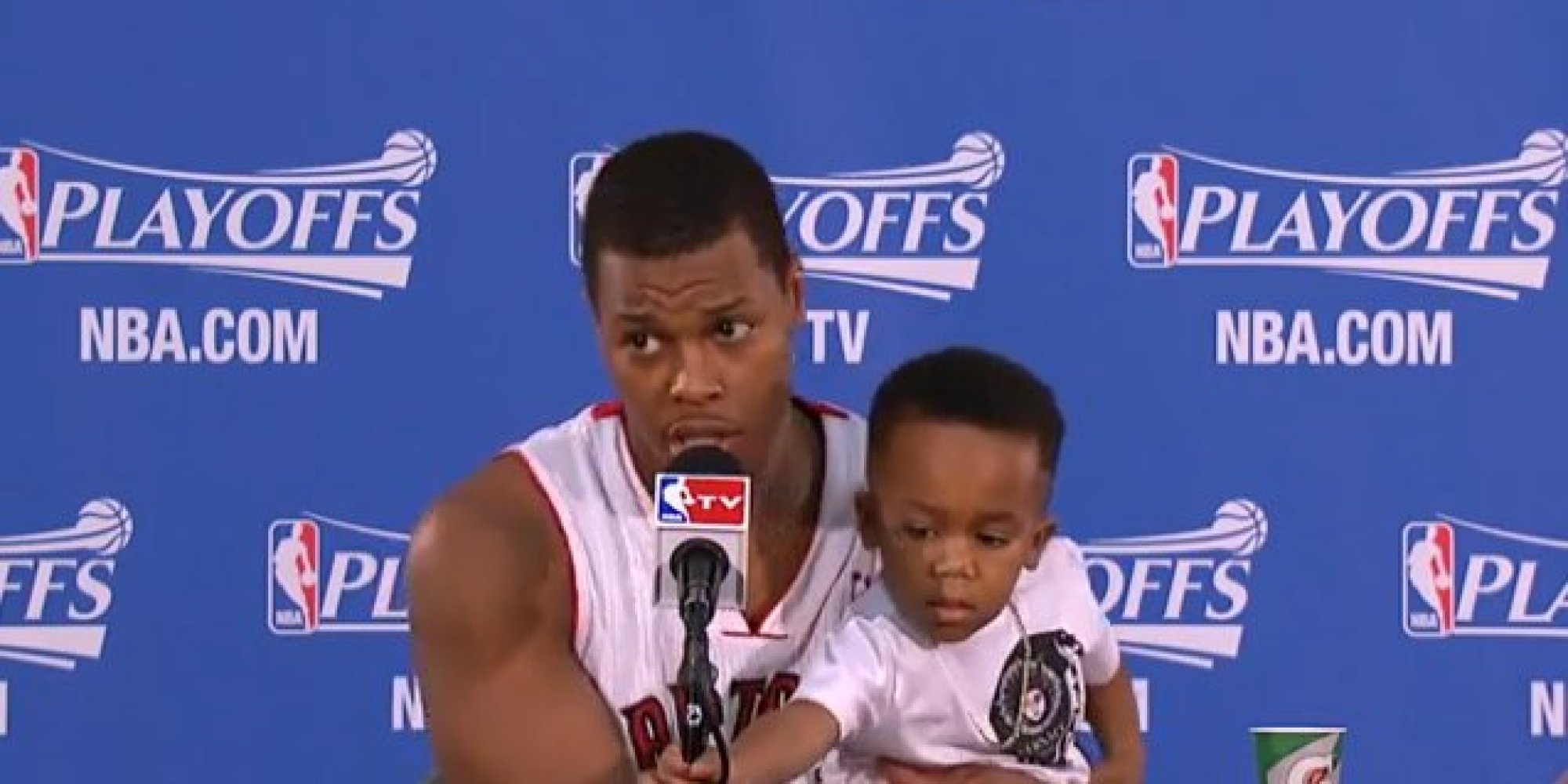 Photo of Kyle Lowry & his  Son  Karter Lowry