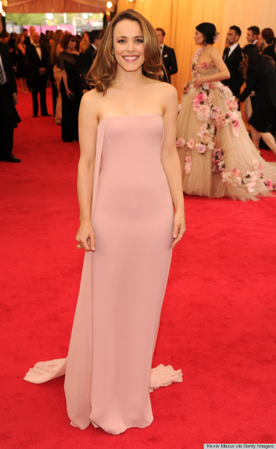 Rachel Mcadams Met Gala Dress 2014 Is Pretty And Pale Pink