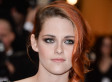 Kristen Stewart Slips Into One Of Chanel's Optical Illusion Dresses For 2014 Met Gala