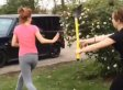 Girls' Fight Ends With Shovel To The Head (VIDEO)