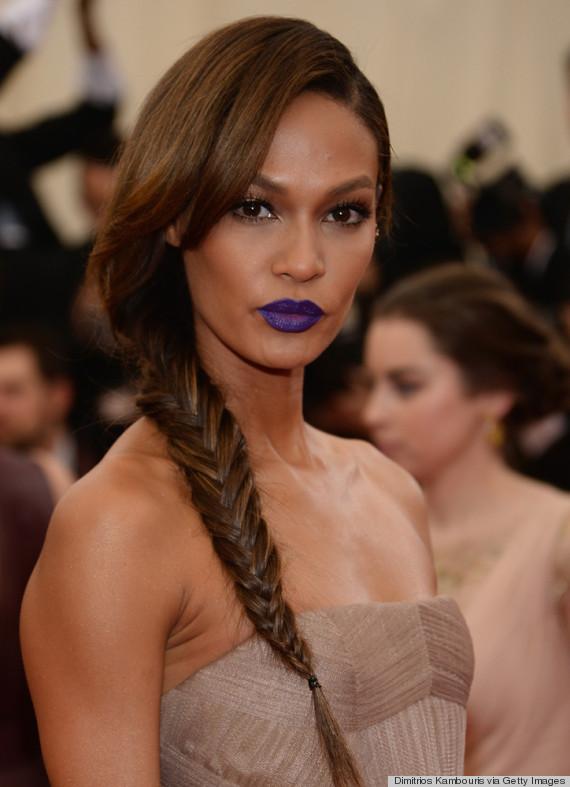 joan smalls purple lips
