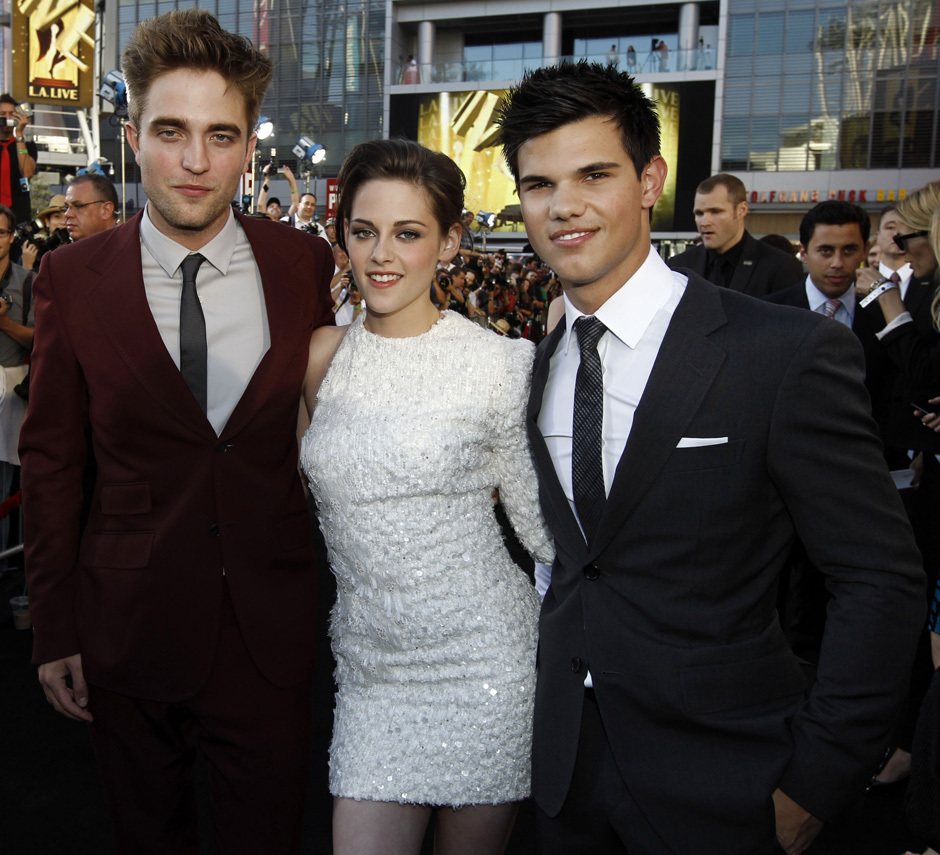 photos of stars Robert Pattinson, Kristen Stewart and Taylor Lautner