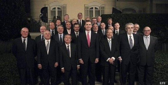foto principe empresarios catalanes