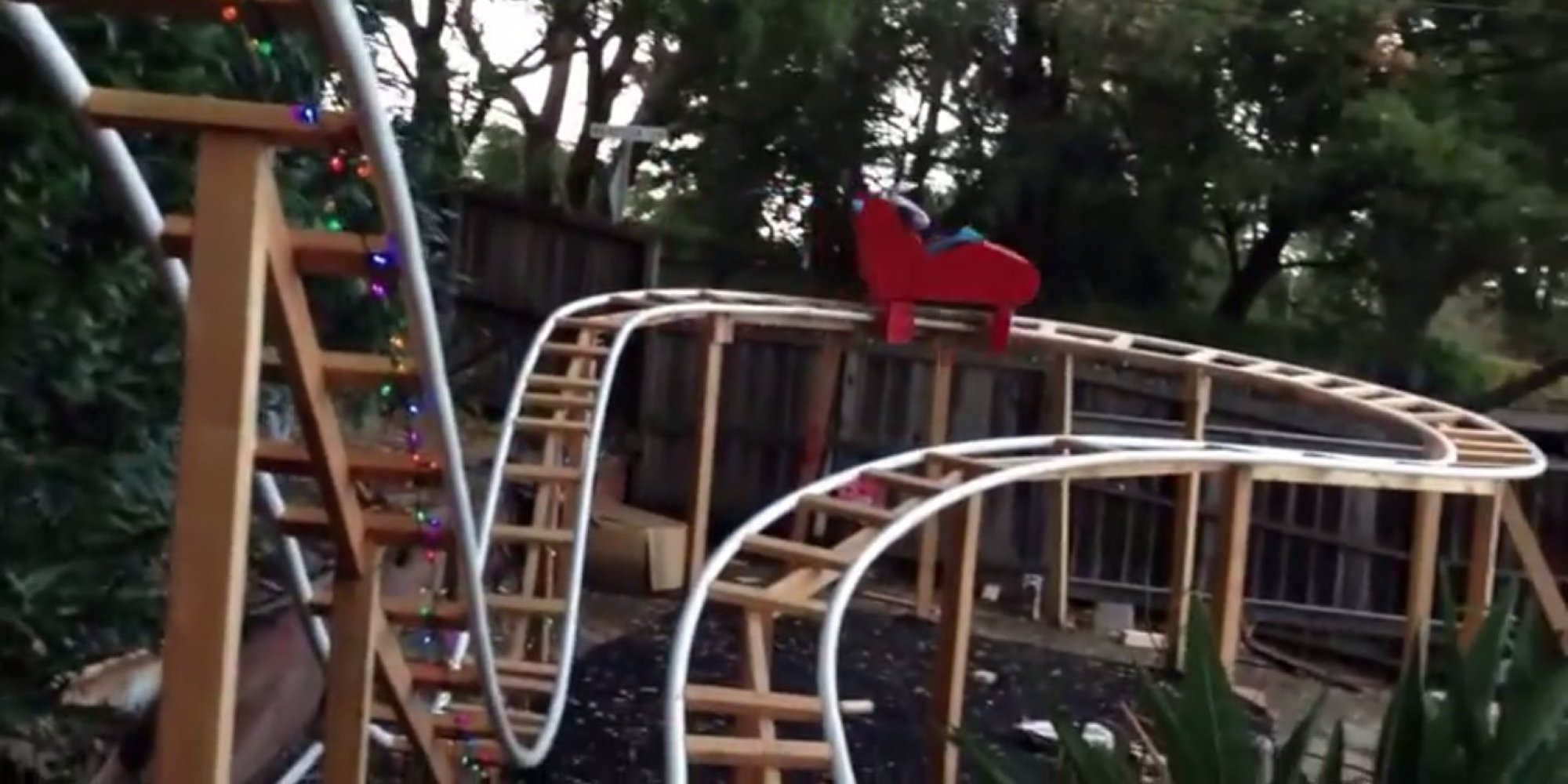 this dad built a roller coaster in his backyard for his son for a very