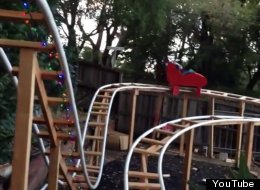 This Dad Built A Roller Coaster In His Backyard For His Son