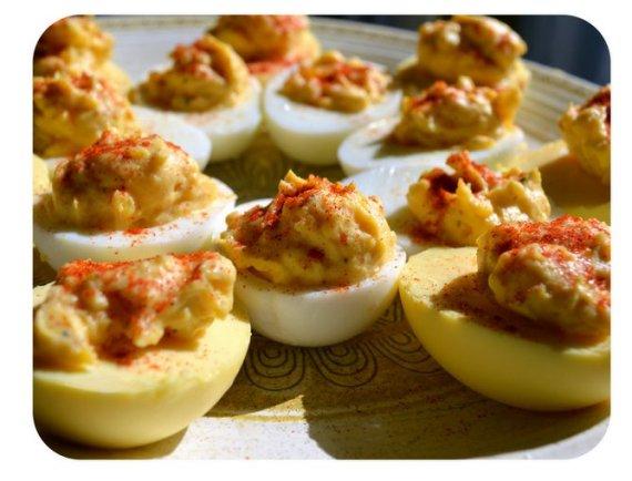 huevos dorados cocidos