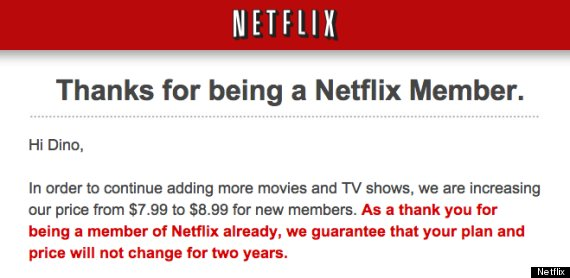Netflix raises price by 1 for new customers huffpost netflix price increase thecheapjerseys Images
