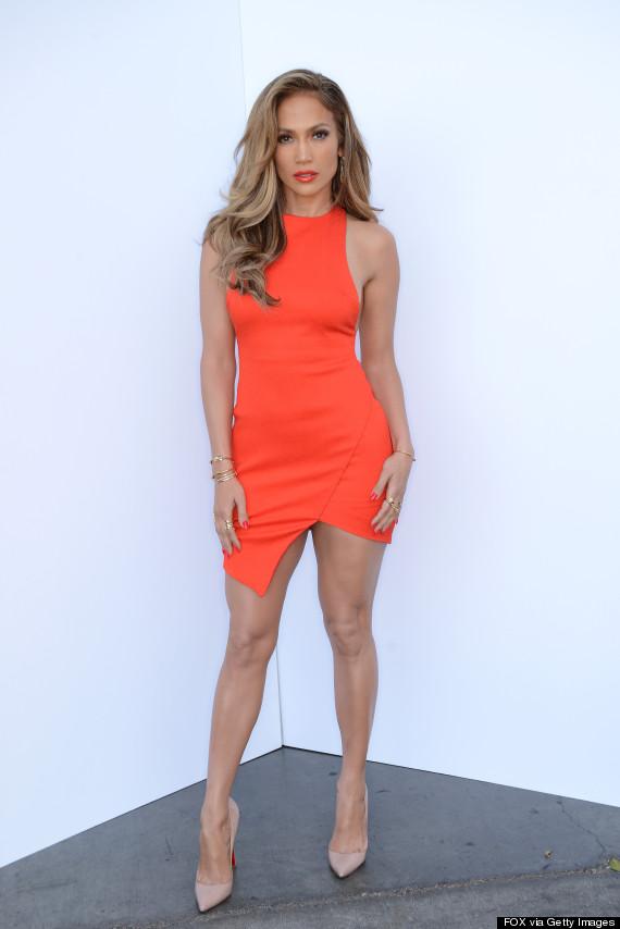 Jennifer Lopez Is Fiery In A Red Dress On 'American Idol' | HuffPost Jennifer Lopez