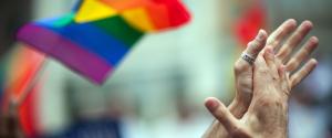 RAINBOW FLAG HANDS