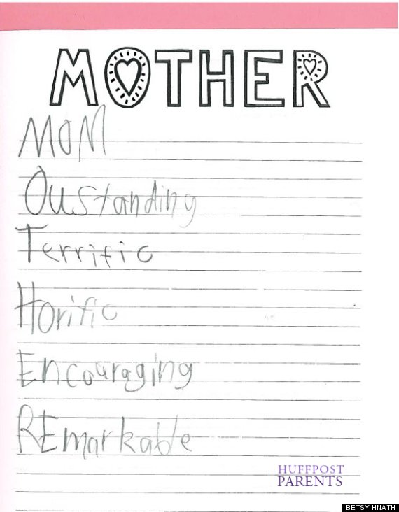 Kids Who Just Thought They Were Telling The Truth About Their - 12 hilariously honest mothers day cards from kids