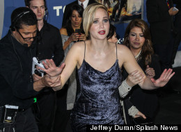 WATCH: J-Law Almost Falls Over... AGAIN