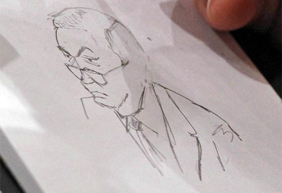 Al Franken Sketches Sessions During Kagan Confirmation Hearing - Al franken draws us map