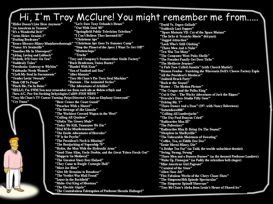 Hi Im Troy Mcclure You Might Remember Me From Huffpost