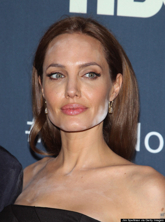 Angelina Jolie Has A Major Powder Problem On The Red Carpet | HuffPost Angelina Jolie