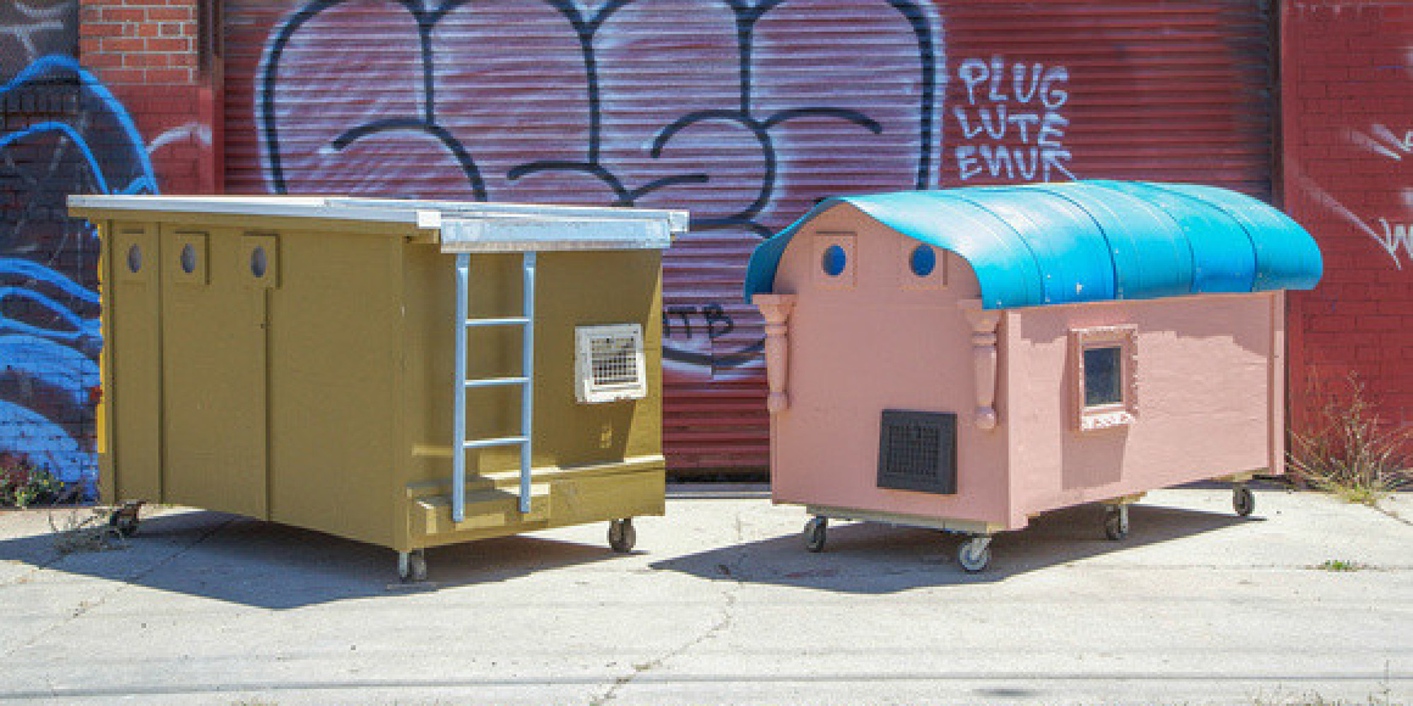 Artist Converts Trash Into Compact Mobile Homes For The Homeless