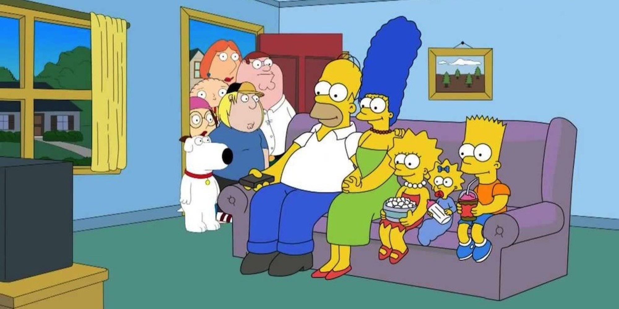 simpsons and family guy meet