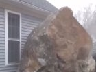 Watch What Happens When A Church Gets In The Way Of A Giant Boulder