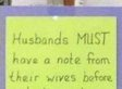 With Signs Like This, Married Couples May Never Fight Again