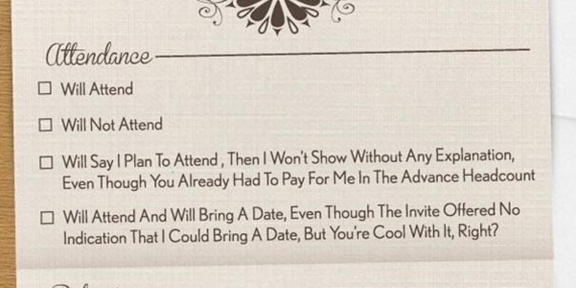 What Should My Wedding Invitation Say: At Last, An Honest Wedding Invitation