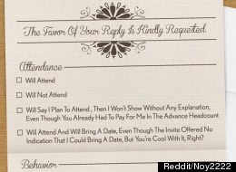 PIC: The Most Honest Wedding Invitation Ever