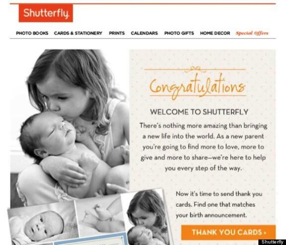 Shutterflys Mass Email Goes Terribly Terribly Wrong – Birth Announcements Shutterfly
