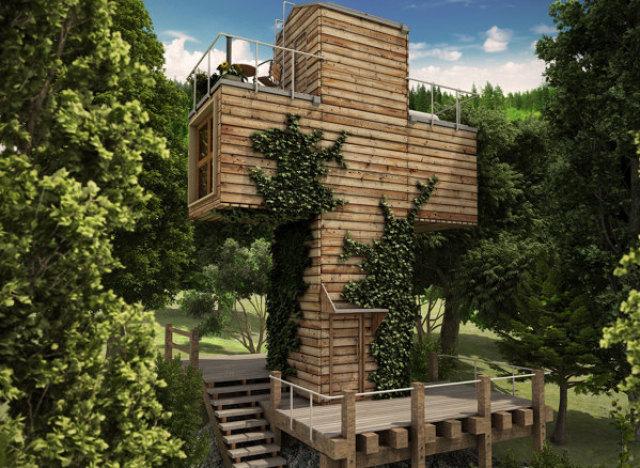 Photos une maison atypique en forme de croix for Atypique maison