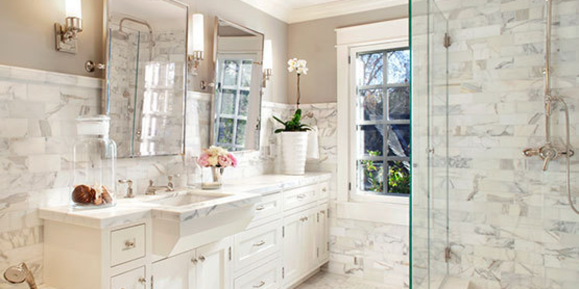 Luxury Marble Bathrooms 7 marble bathrooms that redefine luxury | huffpost