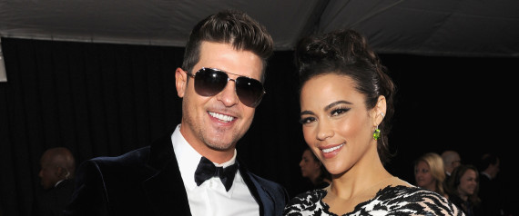Robin Thicke Billboard Awards  Paula Patton
