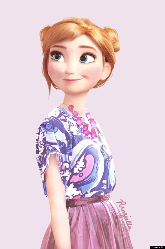 This is what disney characters would look like wearing today s fashion