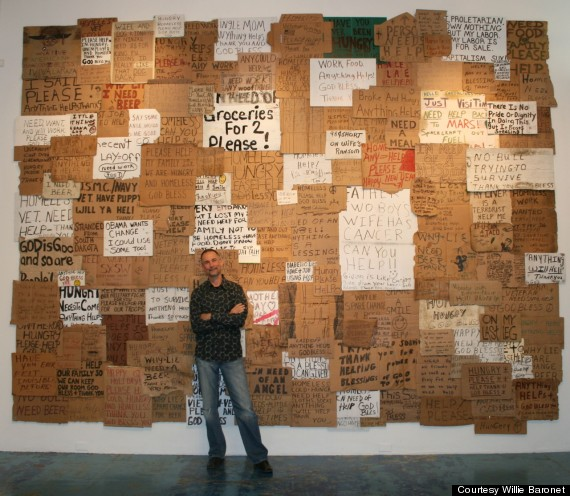 This Artist Has Spent 7000 On Homeless Peoples Cardboard Signs